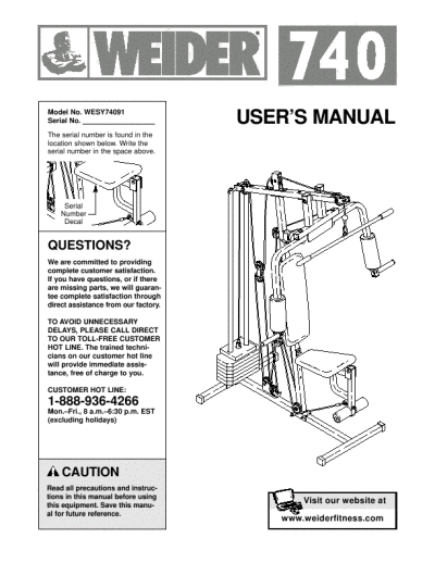 Search Weider Weider Home Gym 6 User Manuals Manualsonline