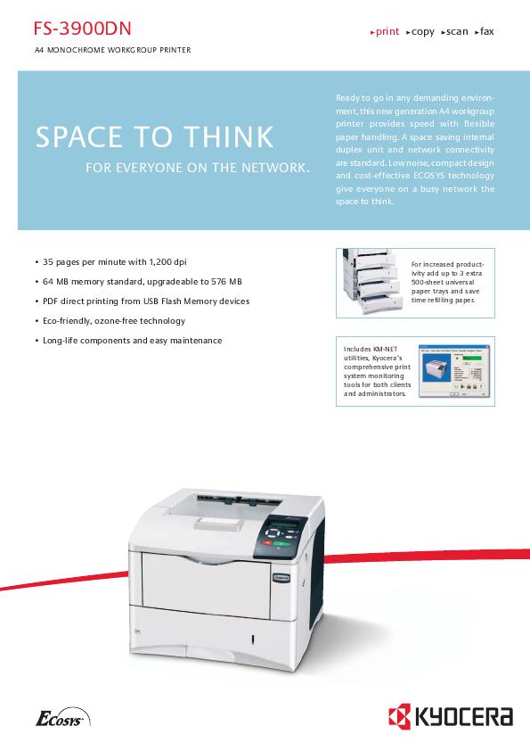 драйвер на принтер kyocera fs 1116mfp