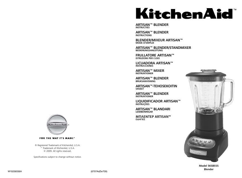 additional kitchenaid kitchenaid blender 5ksb555 blender literature