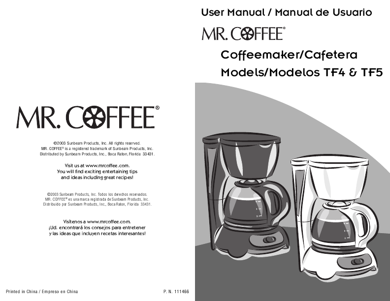 Bunn Coffee Maker Flashing Cle : Search maker User Manuals ManualsOnline.com