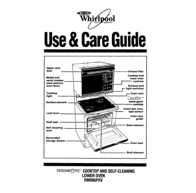 Whirlpool Oven Whirlpool Oven Instructions