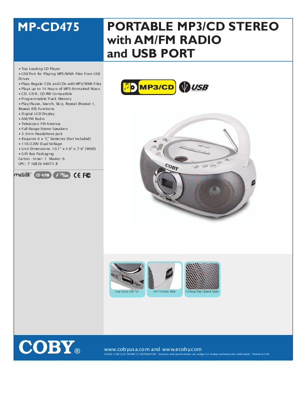 coby portable dvd player instruction manual