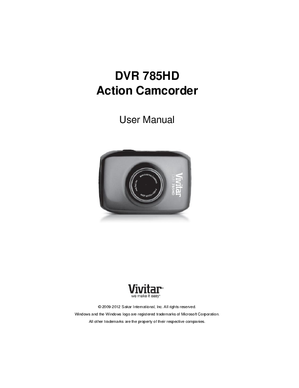 search vivitar vivitar camera user manuals manualsonline com rh camera manualsonline com Vivitar DVR Directions Vivitar DVR 949HD User Manual