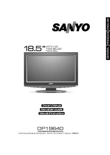 Search sanyo tv User Manuals | ManualsOnline com