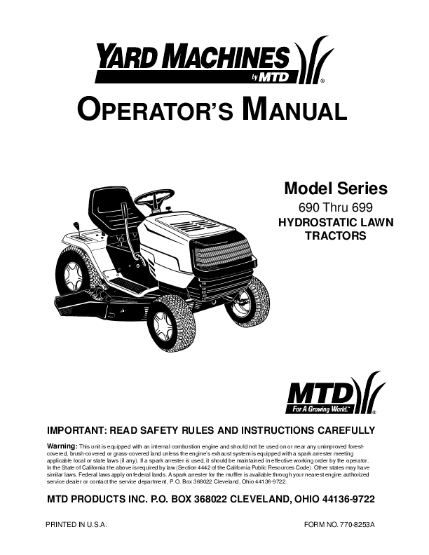 How do I change the drive belt on my MTD Lawnmower?