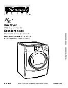 Kenmore ELITE HE3 Gas Dryer User's Guide 110.9787 9789