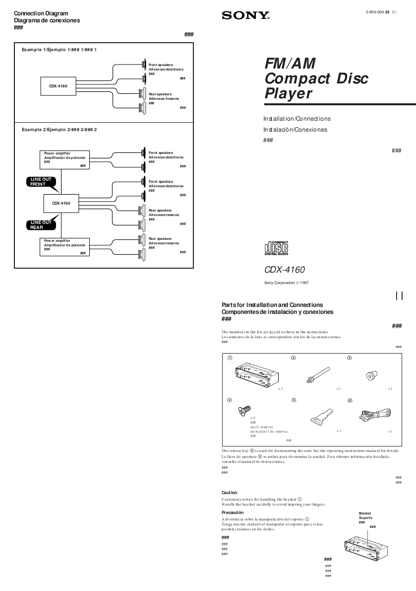 Sony CD Player Wiring Diagram http://audio.manualsonline.com/manuals/mfg/sony/cdx4160_1.html
