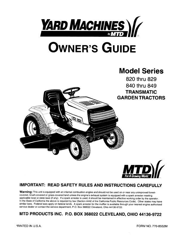 craftsman 9 hp snowblower manual