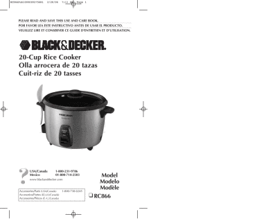 black and decker 28 cup rice cooker manual