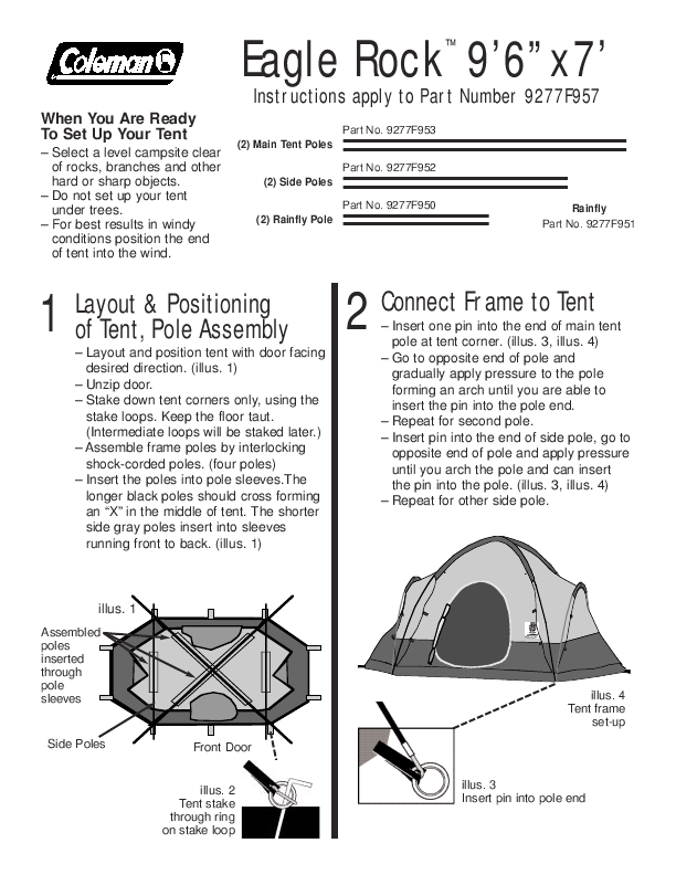 Coleman Eagle Rock Four Person Tentml In Jereclementhub