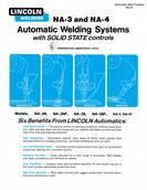 Lincoln Electric Automatic Welding System Specification Sheet