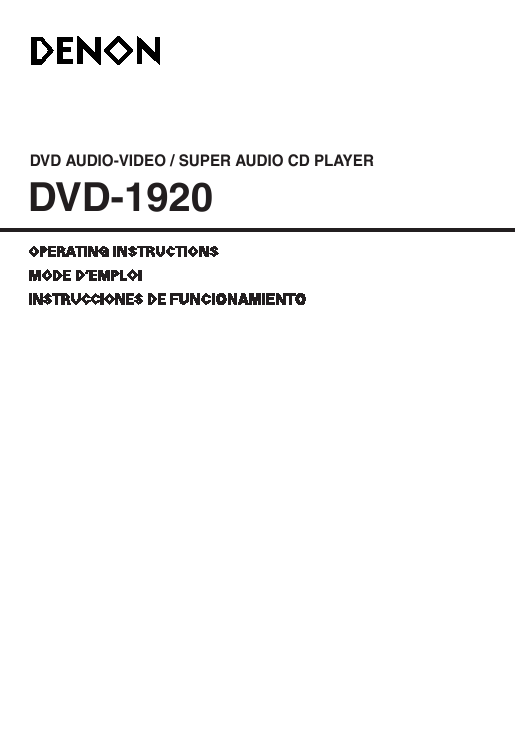 Contents contributed and discussions participated by charlie rasner manual for denon 1920 dvd player fandeluxe Choice Image