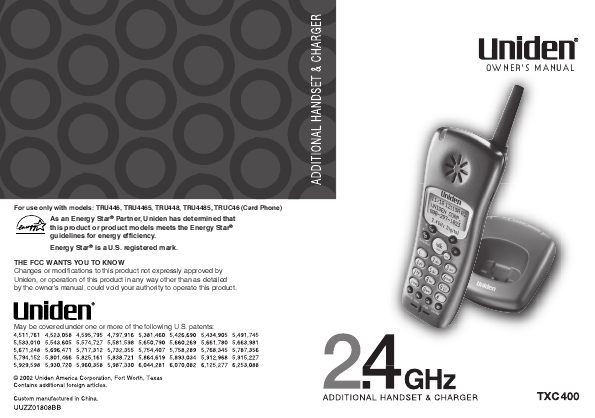 uniden dect 6 0 answering machine manual
