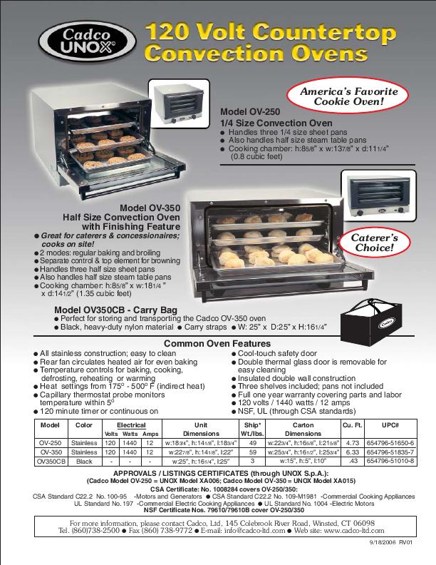 unox combi oven user manual