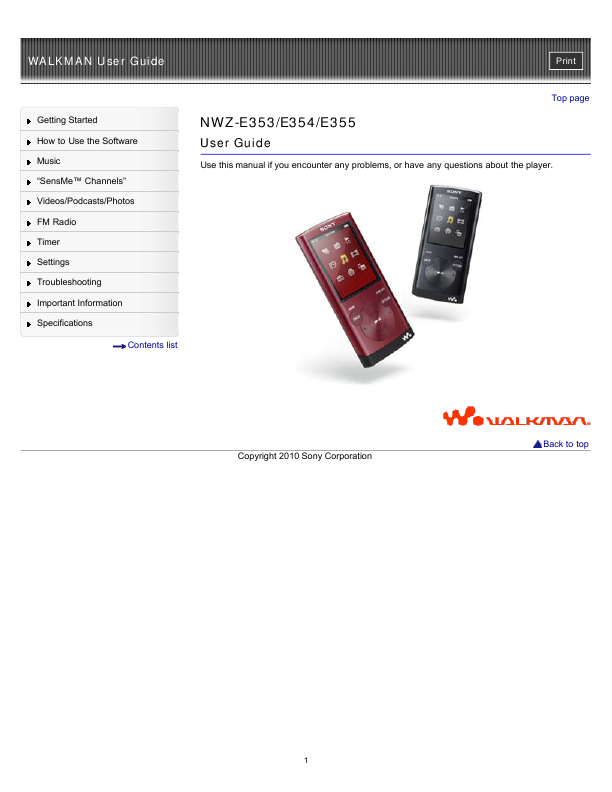 search sony sony portable cd mp3 player user manuals manualsonline com rh portablemedia manualsonline com Sony Walkman Blue sony walkman nwz-e438f driver download