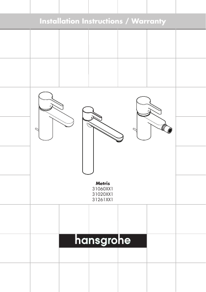 Hans Grohe Indoor Furnishings 31060XX1 User 39 S Guide