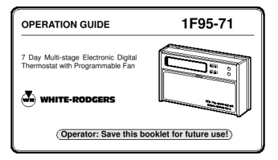 emerson air conditioner thermostat manual