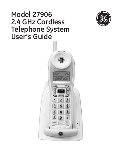 search ge telephones ge telephones cordless telephone user manuals rh manualsonline com Digital Telephone with Answering Machine AT&T Telephones with Answering Machine