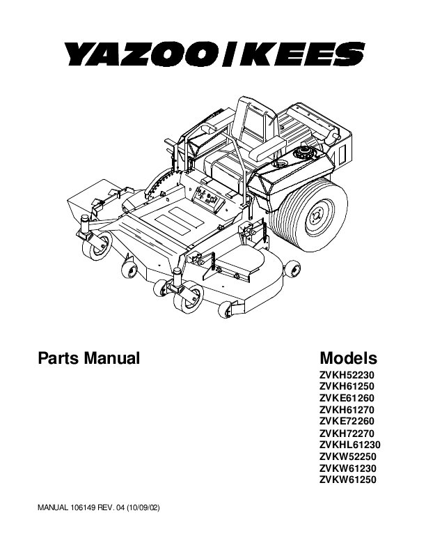 Yazoo Mower Wiring Diagram on simplicity lawn mower belt diagram