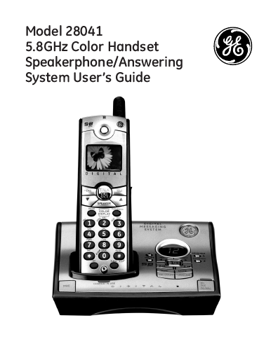 search ge telephones ge telephones cordless telephone user manuals rh manualsonline com