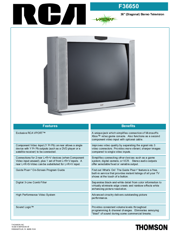 search rca rca crt rearprojection tv user manuals manualsonline com rh tv manualsonline com RCA TV DVD Combo Troubleshooting RCA Portable DVD Player