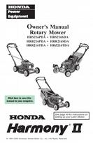 Honda Rotary Mower Owner's Manual