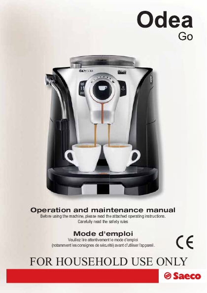 Saeco Coffee Makers Espresso Maker SUP0310 User s Guide ManualsOnline.com