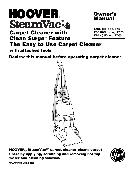 Hoover Carpet Cleaner Owner's Manual