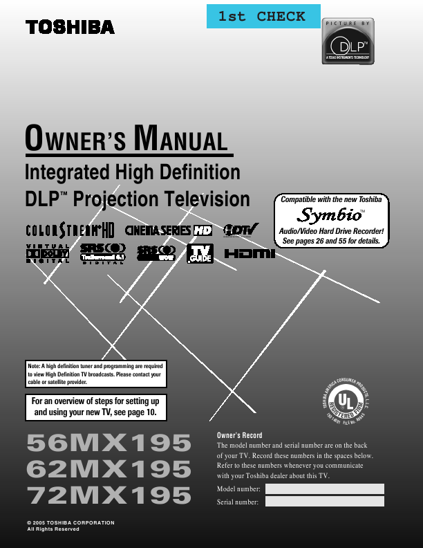 search fro user manuals manualsonline com rh powertool manualsonline com Weight of Toshiba 56HM66 Y67-LMP Toshiba Lamp
