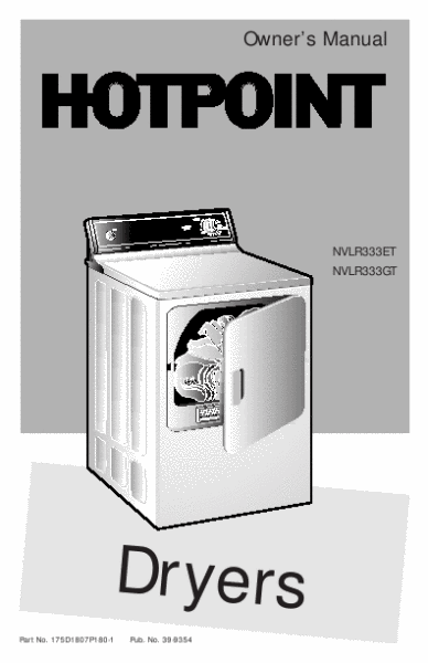 search washers and dryer user manuals manualsonline com rh manualsonline com Hotpoint Gas Dryer Won't Spin Hotpoint Gas Dryer Repair Manuals