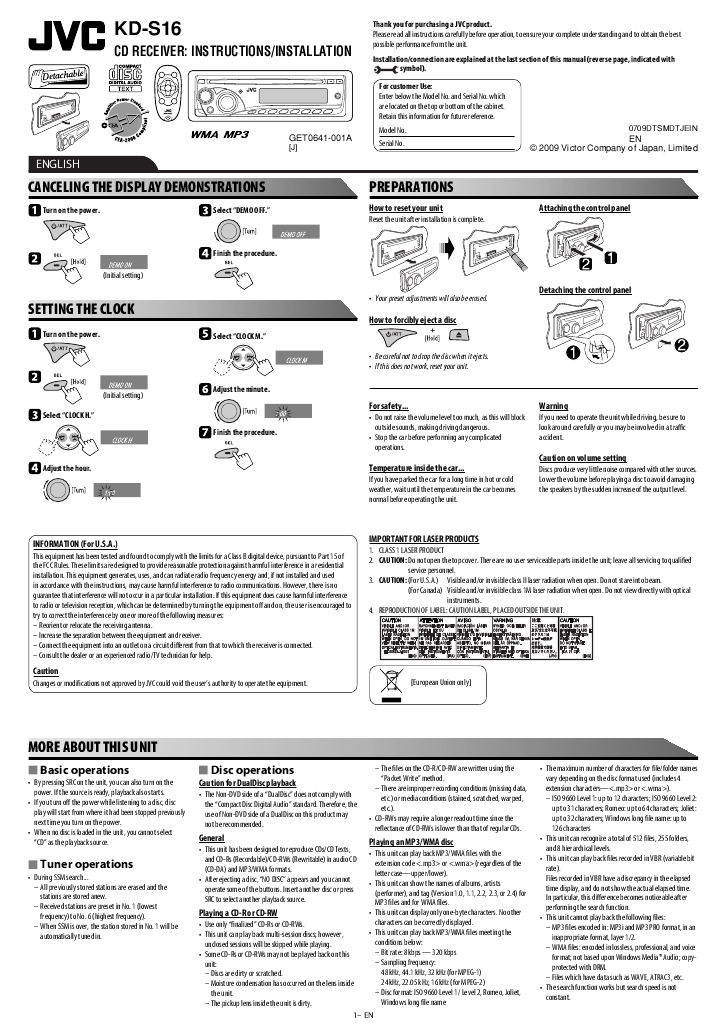 Search jvc jvc kd kdg401 User Manuals | ManualsOnline.com on