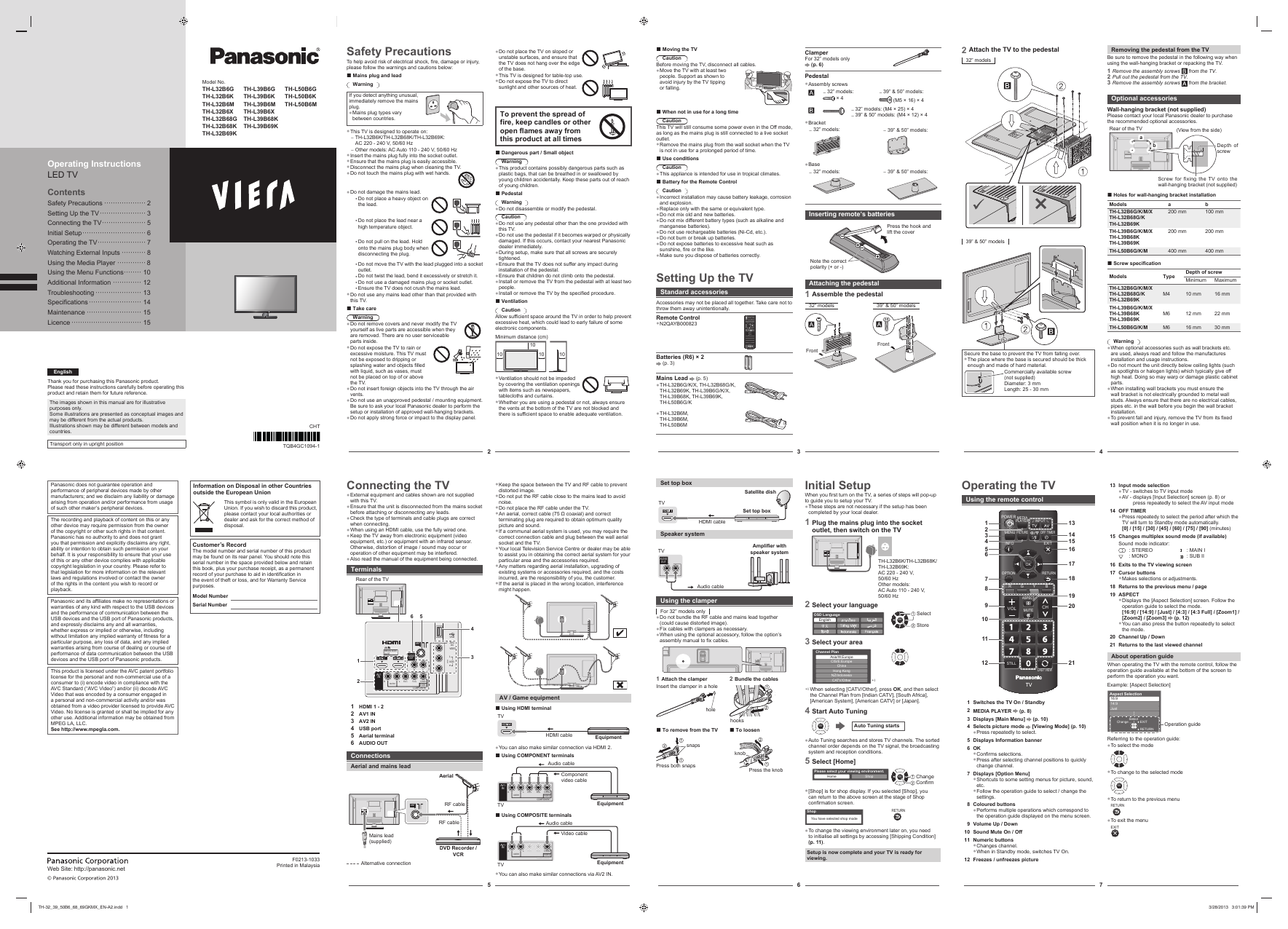 search tv receiver user manuals manualsonline com rh tv manualsonline com Panasonic Plasma TV Schematics Panasonic 50 Inch Plasma TV