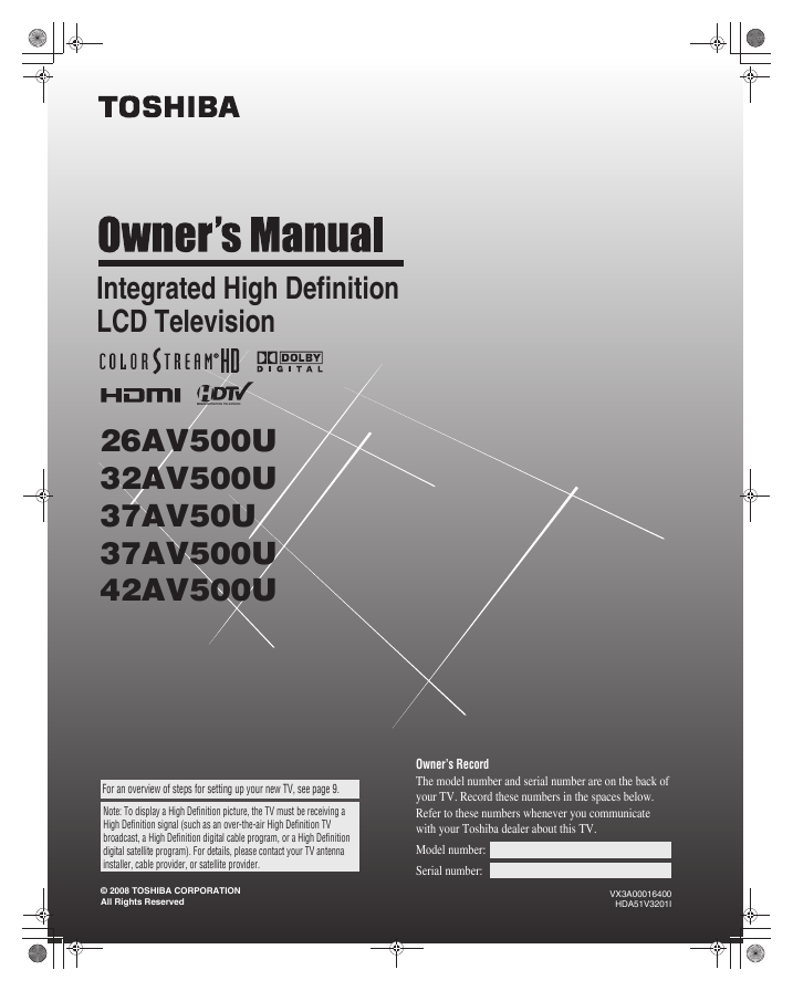 search toshiba toshiba lcd hdtv 26 user manuals manualsonline com rh tv manualsonline com Toshiba E-Studio203sd Manuals Toshiba Laptop User Manual