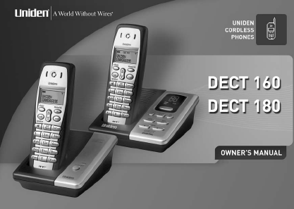 search uniden uniden cordless telephone 10 user manuals rh manualsonline com uniden dect1580 manual download Uniden Digital Answering System Phones