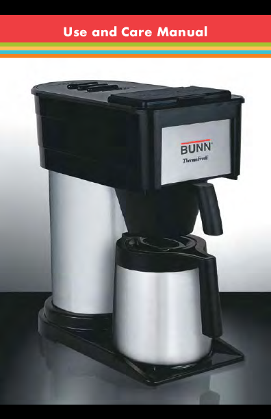 Bunn Coffee Maker Heating Element Problems : Bunn Coffeemaker BTX-B User s Guide ManualsOnline.com