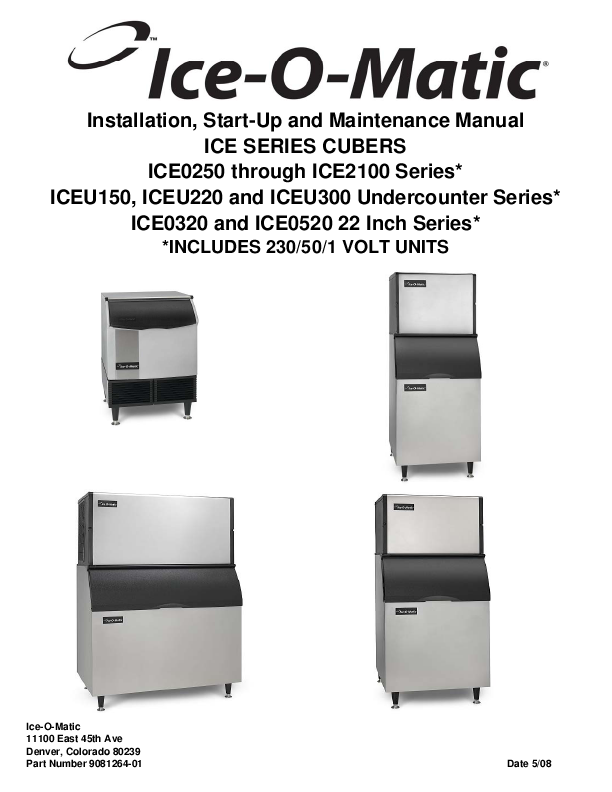 iceu150 self contained cube machine