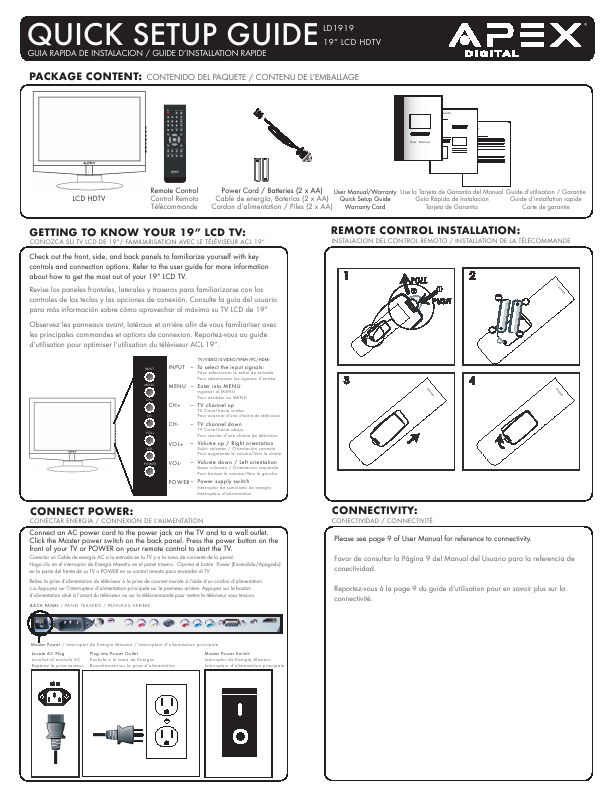Pdf apex tv manual 28 pages apex digital flat panel apex tv manual apex digital flat panel television ld1919 user s guide fandeluxe Image collections