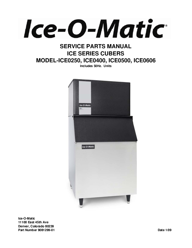 iceomatic machine parts