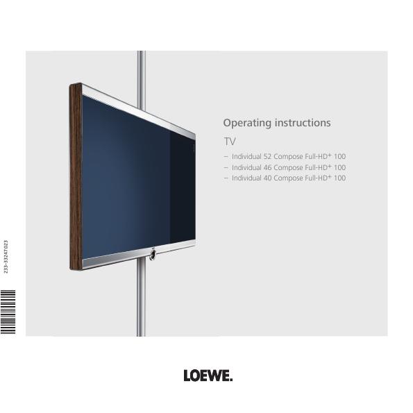 loewe flat panel television 46 40 user 39 s guide. Black Bedroom Furniture Sets. Home Design Ideas