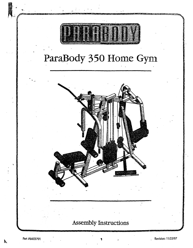 Parabody home gym user s guide manualsonline