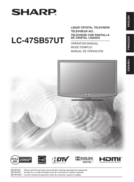 search sharp sharp lcd hdtv user manuals manualsonline com rh tv manualsonline com