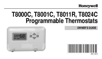 search wireless thermostats user manuals manualsonline com rh manualsonline com honeywell ultrastar humidifier manual Honeywell RTH9580 Ultrastat Thermostat Manual