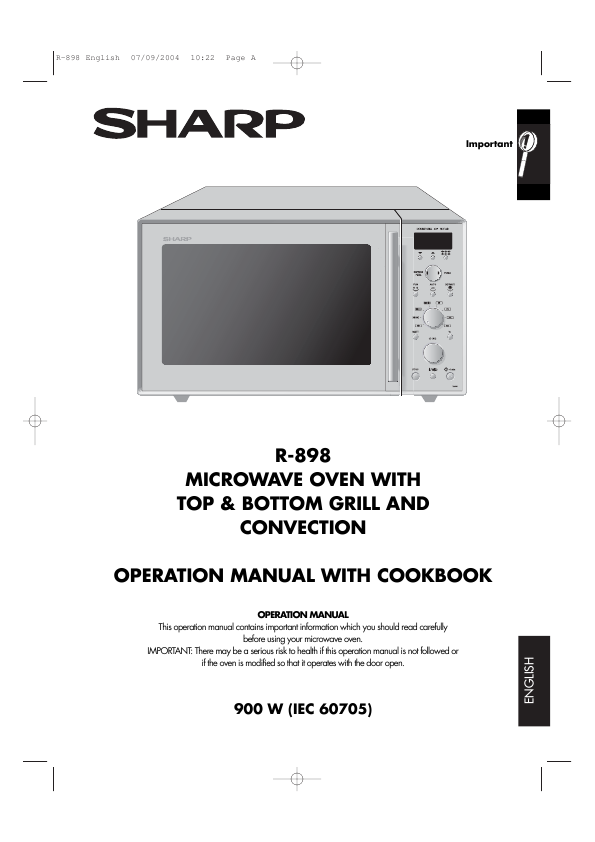 Sharp Microwave Oven R 898
