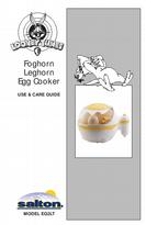 Salton Foghorn Leghorn Egg Cooker Use & Care Guide Model EG2LT