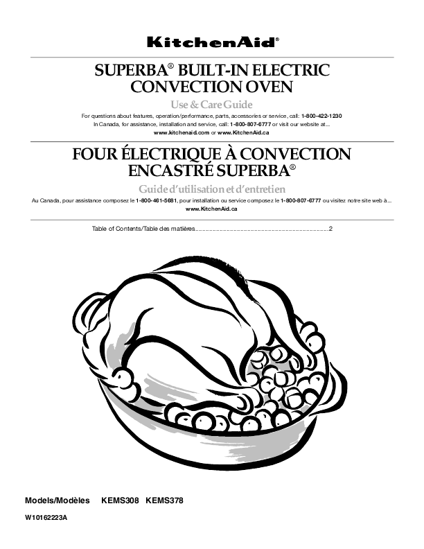 Kitchenaid Microwave Oven Kems378 User S Guide