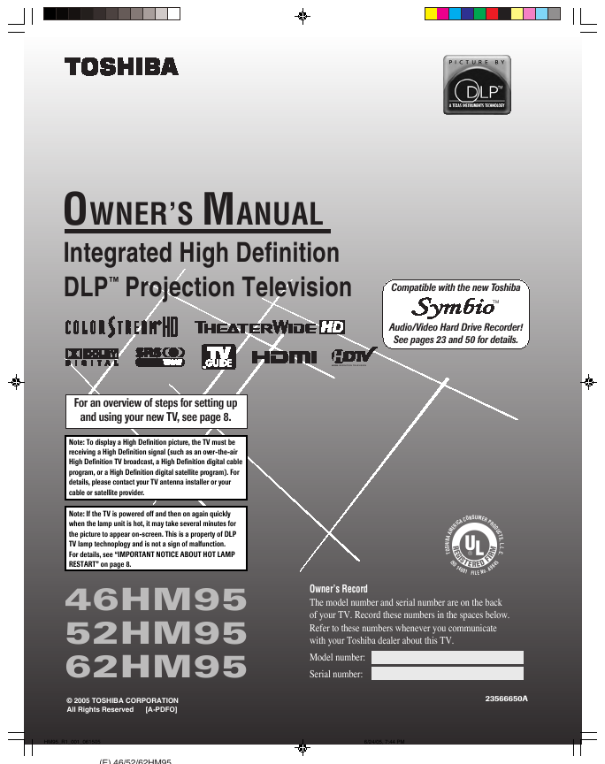 search fro user manuals manualsonline com rh powertool manualsonline com DLP Toshiba TheaterWide Toshiba DLP TV 60 Inch
