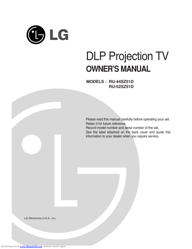 search lg lg lcd tv user manuals manualsonline com rh tv manualsonline com LG Phone Manuals User Guides LG Phone Manuals User Guides