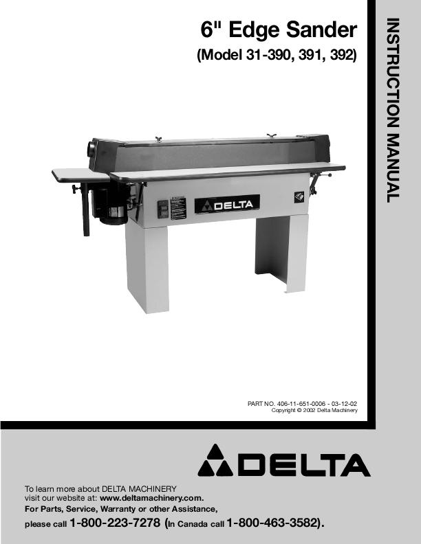 search delta edge sander user manuals manualsonline com Small Belt Sanders at Lowe's Small Belt Sanders at Lowe's