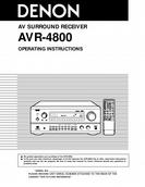 Denon AV SURROUND RECEIVER OPERATING INSTRUCTIONS AVR-4800