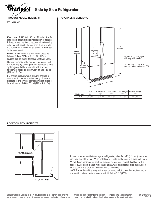 Side by side refrigerator whirlpool side by side refrigerator manual whirlpool side by side refrigerator manual photos fandeluxe Gallery